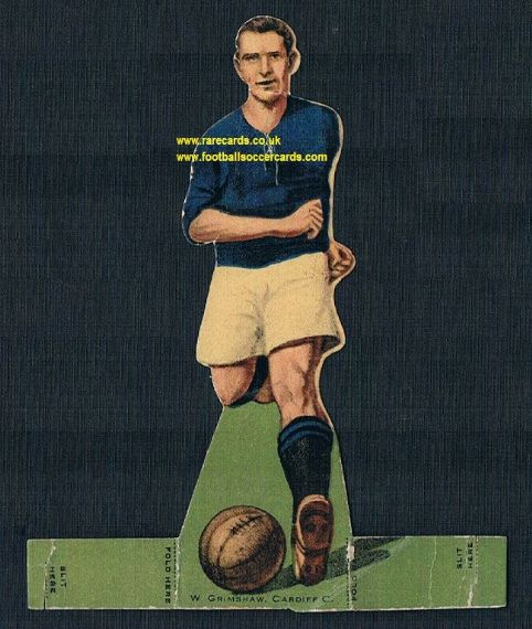 1923 Rover Stand Up Burnley  W Grimshaw Cardiff City FC